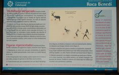Panel explicativo pinturas rupestres roca Benedí Jaraba
