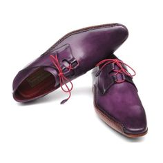 Paul Parkman Men's Ghillie Lacing Side Handsewn Dress Shoes - Purple  (ID#022-PURP) by Paul Parkman Handmade Shoes- Men - Shoes - Oxfords Pure Aiyza Shoe Passion LINK- https://aiyza.com/collections/paul-parkman-mens-ghillie-lacing-side-handsewn-dress-shoes-purple-id-022-purp Purple hand-painted leather upper     Antiqued natural leather sole     Handsewn side detail on welt     Leather wrapped pink laces     Bordeaux lining and inner sole  This is a made-to-order product. Please allow 15…