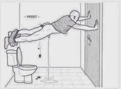Enquanto isso .. em um banheiro público ...