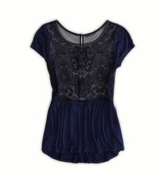 Embroidered peplum top american eagle