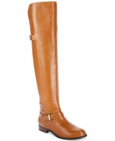 8526e0a6ae6 Bar III Daphne Wide-Calf Over-The-Knee Riding Boots