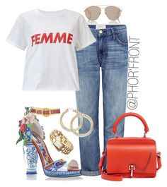 """""""Femme Fatale"""" by shya-dozier on Polyvore featuring Christian Dior, Dolce&Gabbana, Current/Elliott, Miss Selfridge, Carven, women, womensFashion and womensstyle"""