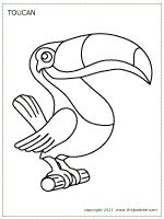tucan outline | Toucan | Printable Templates & Coloring Pages | FirstPalette.com