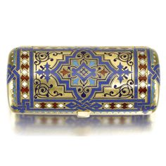 silver and champlevé enamel cigarette case, Ivan Khlebnikov, Moscow, 1884 Jewellery Boxes, Jewelery, Cigarette Case, Vintage Vanity, Russian Art, Silver Filigree, Trinket Boxes, Modern Art, Antiques