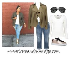 """""""Plus Size Street Style"""" by riversandrunways on Polyvore featuring Silver Jeans Co., Nine West and Yves Saint Laurent"""