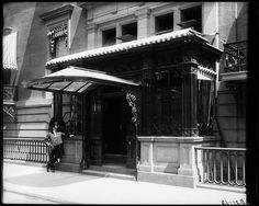 Doorman standing in front of, The Knickerbocker Club, NYC, c.1891. Designed by the American Gilded Age architectural firm of: McKim, Mead, and Stanford White. ~ {cwl} ~ (Image: MCNY)