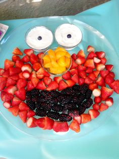 Elmo fruit platter for my friend's 2 year old