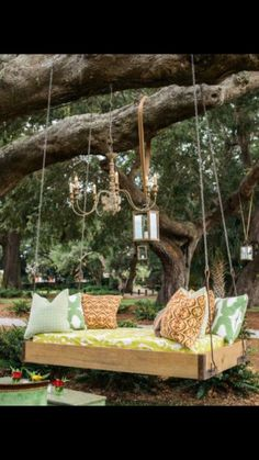 Gorgeous garden swing