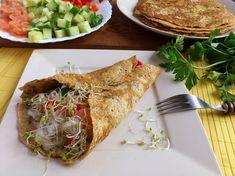 Naleśniki z warzywami Cooking Recipes, Ethnic Recipes, Diet, Chef Recipes, Recipes