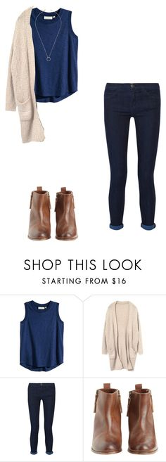 """""""Untitled #513"""" by meganbramey ❤ liked on Polyvore featuring H&M, Current/Elliott, Hoss Intropia and Jeweliq"""