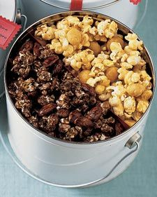 Great gift for our guest at our open house on New Years Day! Caramel-coated clusters of popcorn and nuts are a holiday treat that everyone loves. Easy to make and budget-friendly too, these recipes for caramel corn and popcorn balls are excellent offerings to serve at parties or to drop-in guests. Packaged in a simple container and topped with a pretty bow, they make wonderful gifts, too.
