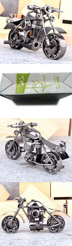 Mytang Creative Office Desktop Accessories Harley Davidson Metal Motorcycle Model Artwork M37 Balck