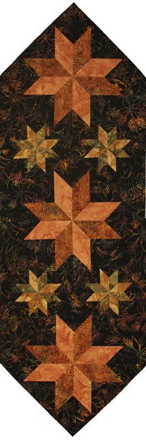 Mini Stars Tablerunner in autumn colors Table Runner And Placemats, Table Runner Pattern, Quilted Table Runners, Star Quilts, Mini Quilts, Plus Forte Table Matelassés, Place Mats Quilted, Quilted Table Toppers, Fall Quilts