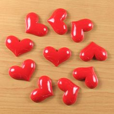 Wholesale Bulk Lot 10pcs Valentine's Day Red by TheButtonSisters