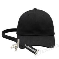 875174172fc Dexing Unisex Solid Color Hat With Ring Snapback Hip Hop Fashion Baseball  Cap