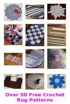 Over 50 free crochet rug patterns. Crochet Socks Pattern, Crochet Rug Patterns, Crochet Mittens, Mittens Pattern, Crochet Yarn, Free Crochet, Knitting Patterns, Knitting Ideas, Tapetes Diy