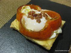 Una receta extremadamente fácil y extremadamente buena: pimiento relleno de huevo frito
