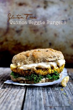 Quinoa Veggie Burgers with Gluten Free Sesame Seed Buns | namely marly