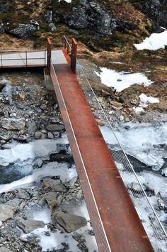 Corten steel bridge - Trollstigen National Tourist Route Project - Reiulf Ramstad Architects