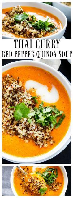 Thai Curry Red Pepper Quinoa Soup - BobsQuinoa AD