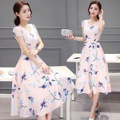 2016 Nova Moda Verão Roupas femininas Flores Grandes de Impressão A line Vestido Curto luva Mostrar Fina Cintura Alta Com Decote Em V vestidos em Vestidos de Moda e Acessórios no AliExpress.com | Alibaba Group