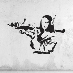 Banksy Mona Lisa Rocket Wall Decal