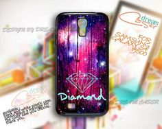 Diamond Galaxy Wood - Print On Hard Case Samsung Galaxy S4 i9500