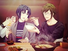 Izumi Iori et Nikaido Yamato Anime Kimono, Kimono Animé, Manga Anime, Anime Best Friends, Hot Anime Guys, Cute Anime Boy, Black Butler Characters, Anime Characters, Bandai Namco Entertainment