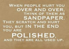 love this - in the end you are polished, and they are all used up