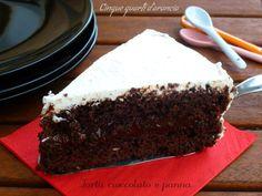 Latorta cioccolato e pannaè una torta golosissima, perfetta per gli amanti del cioccolato (come me) che mi sono regalata per il mio compleanno*_* Mi piac