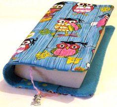 ♥Buchhülle Buchumschlag Buch-Eulen m. Lesezeichen Schmuckeule ♥für dicke & dünne Bücher!     Für Taschenbücher dick und dünn!   Dein Buch für unter...