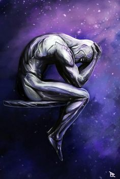 I finally had the time to finish my latest Silver Surfer artwork. The main idea was to show him gathering the energy of the power cosmic and capture the. The Silver Surfer Comic Book Characters, Marvel Characters, Comic Character, Comic Books Art, Comic Art, Epic Characters, Marvel Comics Art, Marvel Heroes, Anime Comics