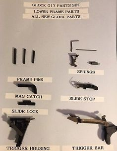 Cleaning Supplies 22700: Glock 17 New Oem 9Mm Frame Parts Set -> BUY IT NOW ONLY: $60 on eBay!