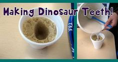 Make your own dinosaur teeth! Fun activity to do at home with your kids or in the classroom with your students. http://ift.tt/1MZnFW9 by MPM School Supplies