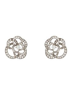 394e85a3e Chanel Diamond Camellia Earrings #MasterpieceClassic #Lookbook Chanel  Camellia, Chanel Jewelry, Diamond Earrings