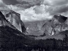 Such an amazing photo...          Ansel Adams...Yosemite, probably the most beautiful place on earth... #2..Columbia River Gorge, Oregon/Washington