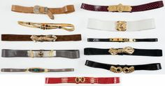 Judith Leiber Set of Eleven Belts #fashion #love