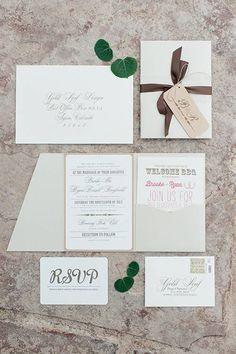 Aspen Wedding Invitation Suite