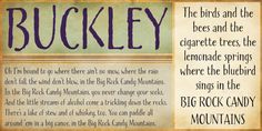 Calligraphy font, Buckley, by Laura Worthington