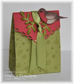robin gift bag + tutorial