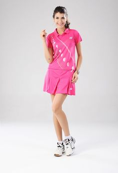 Hot Pink Badminton cloathing....Want to learn how you can support your badminton passion to buy the best badminton cloathing and accessories while also travelling around the world to watch the best badminton tournaments? Click the photo on top to watch the free video that shows you a tried and tested system that will enable you to make money online from home so you can support your badminton passion   #badmintonoutfit #badminton #badmintonfan