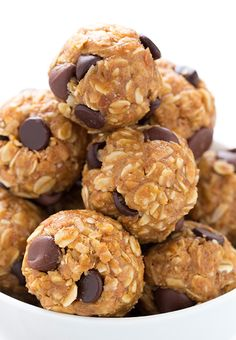 No Bake Energy Bites - everyone who tries these LOVES them! One of my go to snacks that I can feel good about eating!