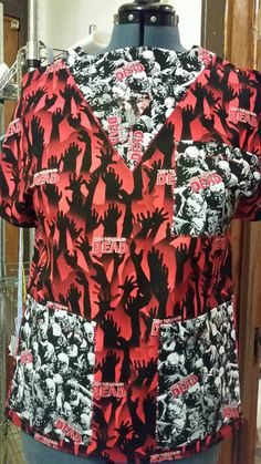 Check out this item in my Etsy shop https://www.etsy.com/listing/292482369/sale-premade-scrubs-only-walking-dead-45