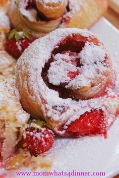 Strawberry Cheese Swirls 1303309 ~ I love anything strawberry! I'll use my homemade strawberry jam. by CrashFistFight