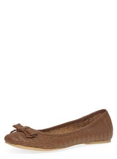 Tan leather bow pumps - Dorothy Perkins
