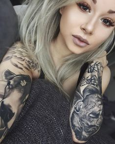 """2,214 Likes, 18 Comments - Tattooed Girls  (@tattooed_girls__) on Instagram: """"Tattooed goddess  Model: @riae_ Follow @tattooed_girls__ and send us your photos for features """""""