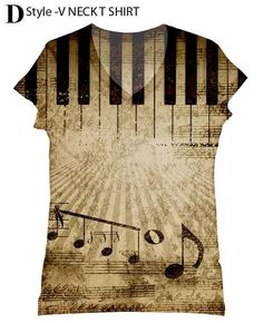 Hey, I found this really awesome Etsy listing at https://www.etsy.com/listing/156016521/woman-music-print-top-t-shirt-and