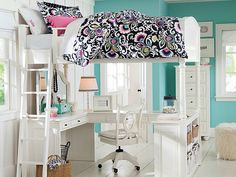 I love the PBteen Chelsea Jules Floral Bedroom on pbteen.com