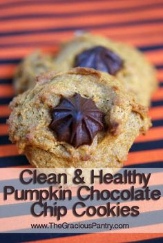 "Chocolate Chip Walnut Pumpkin Cookies. These look awesome, and will use up the extra pumpkin purée from the pumpkin ""ice cream"" I just made."