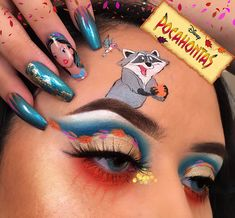 🍂POCAHONTAS 🍂 – My princess series all over again! Here's my recreation … – … - Makeup Products Fenty Pocahontas Makeup, Disney Eye Makeup, Disney Inspired Makeup, Eye Makeup Art, Colorful Eye Makeup, Skin Makeup, Eyeshadow Makeup, Fairy Makeup, Mermaid Makeup